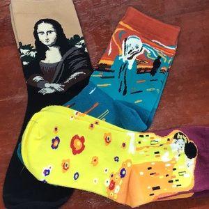 🎨 🖼 😱Classic Art Ankle Socks 🎨🖼😍😱